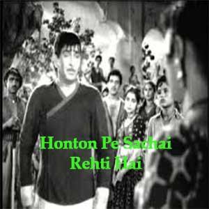 Honton Pe Sachai Rehti Hai Free Karaoke