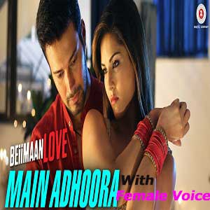 Main Adhoora With Female Voice Free Karaoke